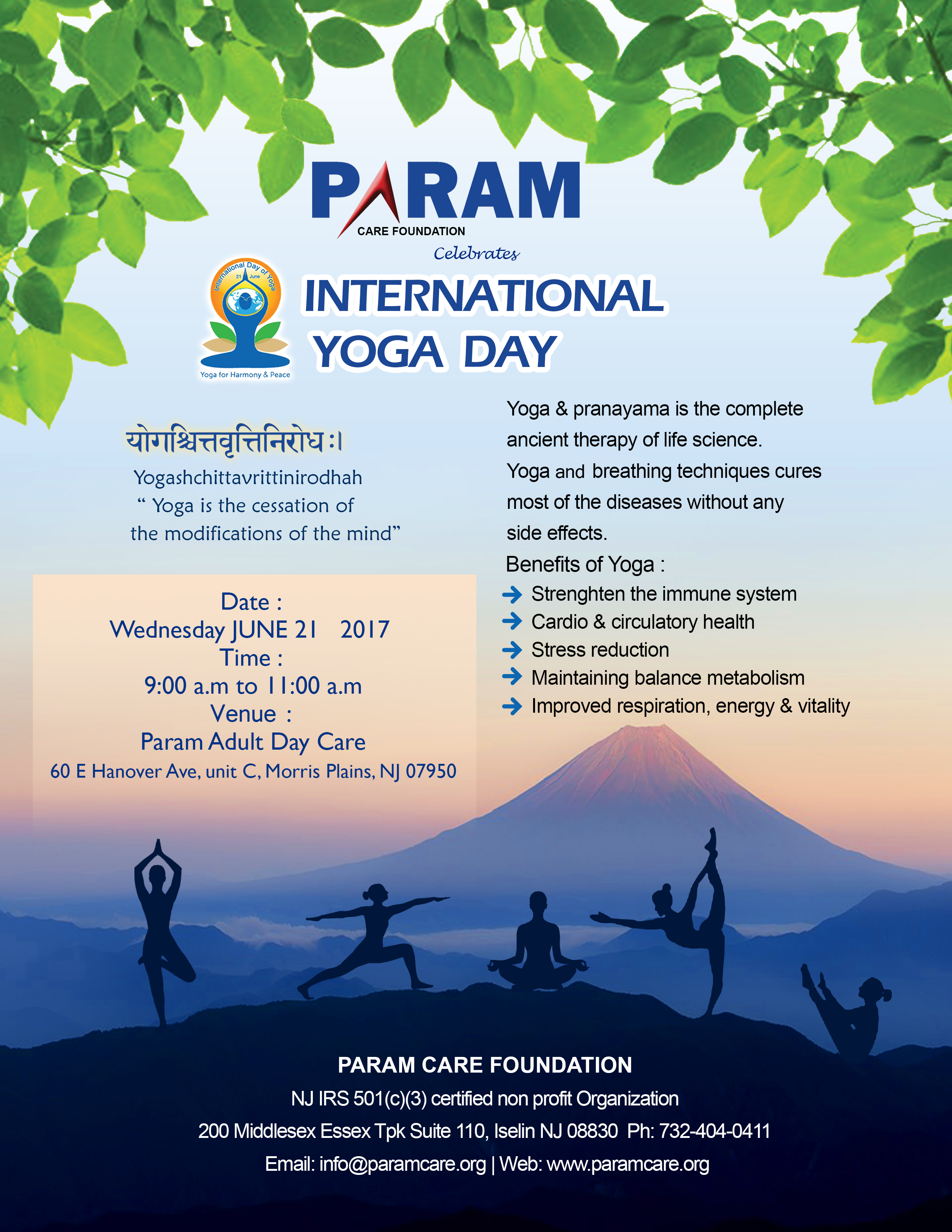 International Yoga Day English