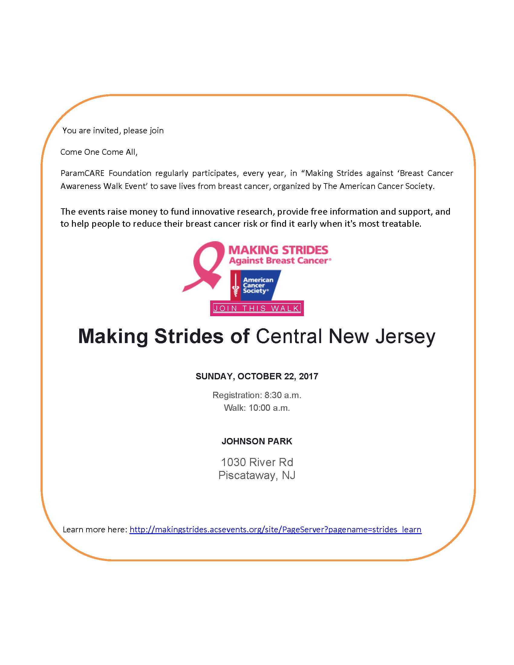 Making Strides of Central New Jersey